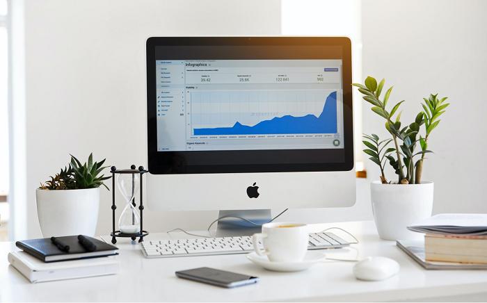 Desktop displaying a graph that shows rebranding success rates